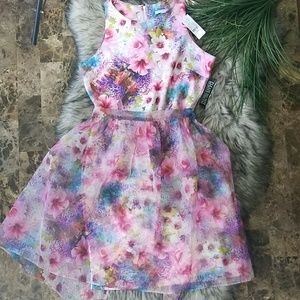 New York & Company Pink Floral Dress size S